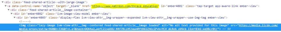 LinkedIN Picture URL